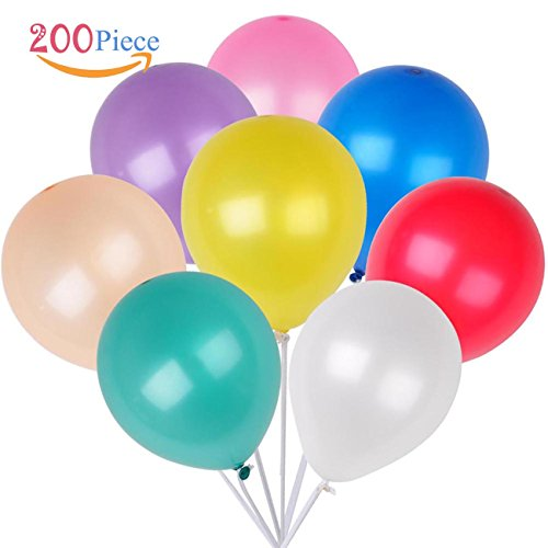 "Price comparison product image 200 Count/Pack Balloons 12"" Multicolor Thicken Latex Balloons For Birthday /Party/Christmas/Weddings And Holidays"