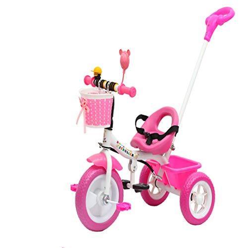 RCIN Balance Bike Black,Folding Pedal 2 in 1 Kids Tricycles for 18 Month-6 Years Olds Kids 3 Wheel Toddler Bike Boys Girls with 3 Wheels Seat Belt Bell Gift, Pink ()