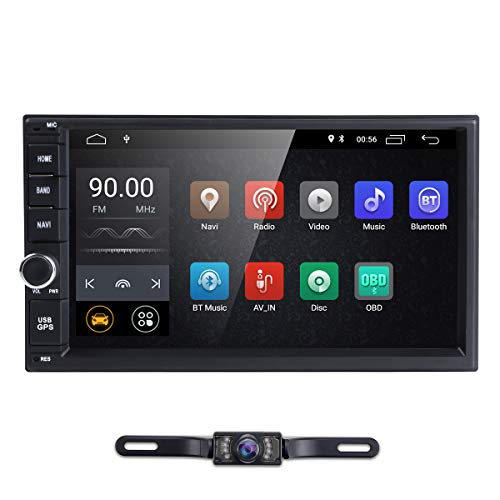 Double 2 Din Android 8.1 Car Stereo Radio GPS Navigation Support 4G WiFi Bluetooth Mirrorlink Rear Camera