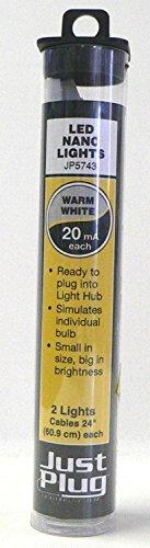 Woodland Scenics Just Plug LED Nano Lights Warm White for Scale Model Railroads 5743