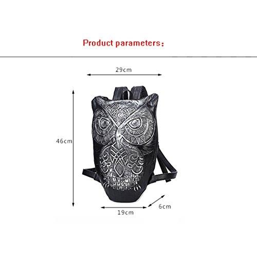 Outdoor Backpack Messenger 3D Personality Cute Owl Female Shoulder Cartoon Shoulder Ladies Fun Gold Leisure Bag Single Bag JUNBOSI Fashion Trend Bag Female Shoulder Bag xAdxOzw
