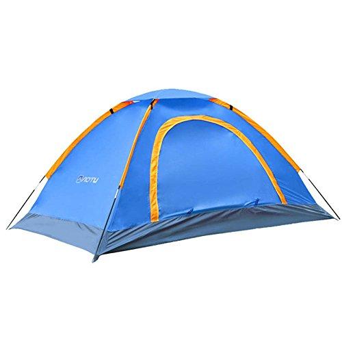 召喚する法律によりレビュアーFirlarアウトドアテント キャンプ用品 2人用 二層構造 高通気性 折りたたみ 軽量簡単 設営 登山 運動会 ツーリング 防災 防水防風 UVカット 5カラー 210×110×140cm