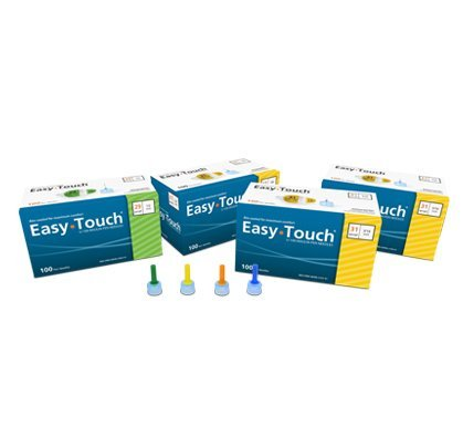 [2 BOXES] EASY TOUCH® 32G TIP x 6 MM (1/4'') DISPOSABLE PEN NEEDLES (100 COUNT X 2 BOXES) *COMPARE TO B-D® NANO & NOVOFINE® AND SAVE!!*