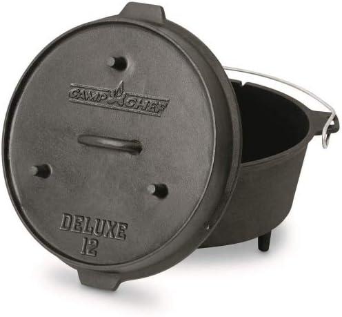 Camp Chef Deluxe Dutch Oven Set Schmortopf aus Gusseisen Grill BBQ Outdoor Auswahl-Deluxe Dutch Oven CC-DO14