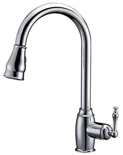 Coronado Single (Dyconn Faucet TB001-A03CHR Coronado Pull Down Dual Spray Single Handle Kitchen Faucet, Polished Chrome)