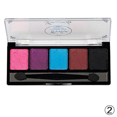 5 Color Eyeshadow Palette Eye Shadow Makeup Waterproof Palle