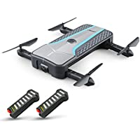 Goolsky JJR/C H62 Splendor 720P Camera Foldable Wifi FPV Drone Auto-Follow Optical Positioning Altitude Hold RC Quadcopter w/Two Batteries