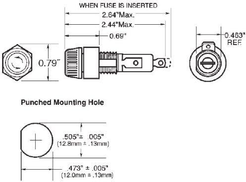 Bussmann BP//HKP High-Profile Panel Mount Fuse Holder