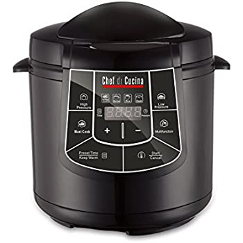 amazon.com: chef di cucina cc600 multi cooker, black: kitchen & dining - Chef In Cucina