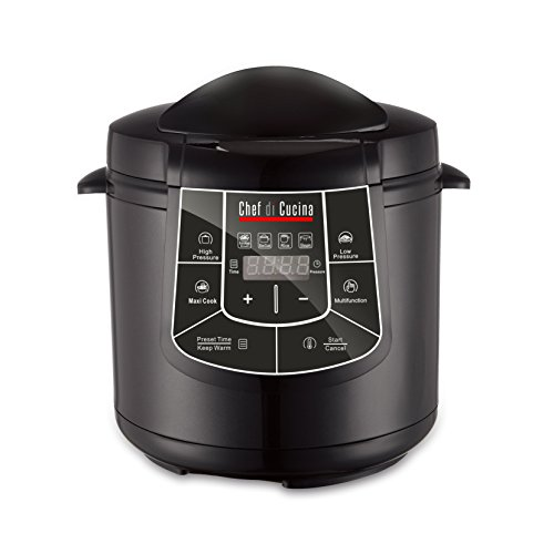 Chef Di Cucina CC600 Multi Cooker, Black