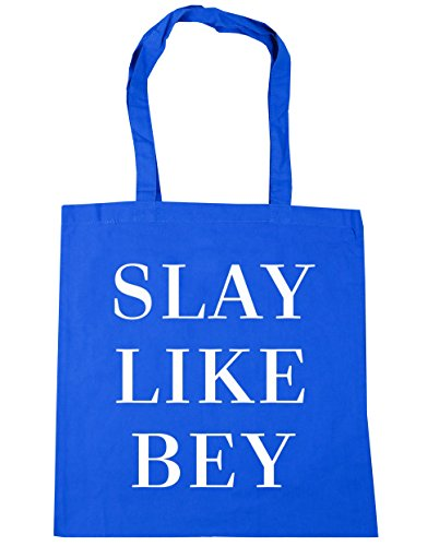 HippoWarehouse Tote Like Slay Gym litres Blue x38cm 10 Beach Bag Shopping Cornflower Bey 42cm atraw5xdnq