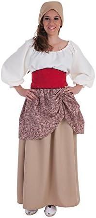 Disfraz de Campesina medieval para mujer: Amazon.es: Juguetes y juegos