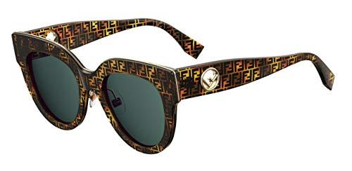 (Sunglasses Fendi Ff 360 /G/S 0H7P Tortoise Camu/KU blue avio)
