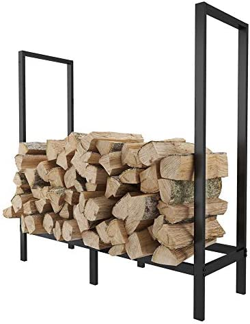 FOYUEE Firewood Rack Outdoor 4 Ft Log Holder for Fireplace Indoor Fire Wood Storage Holding Stand Heavy Duty