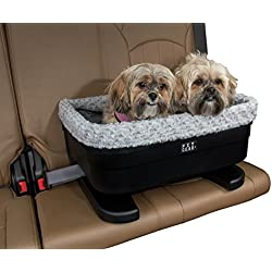 Pet Gear Bucket Booster Car Seat for Dogs/Cats, Removable Washable Comfort Pillow + Liner, Safety Tethers Included, Installs in Seconds, No Tools Required, 2 Sizes