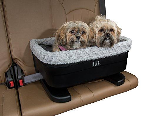 Pet Gear Medium Dog Raised Car Seat carrier in Black Fog wit