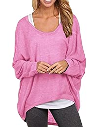 Women Casual Pullover Baggy Sweater Hoodie Sweatshirts Blouses Shirt Tops
