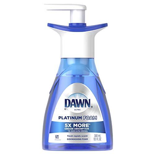Dawn Ultra Platinum Foam Dishwashing Foam, Fresh Rapids Scent, 10.1 fl oz (Packaging May Vary) (Foam Dish Soap Dawn)