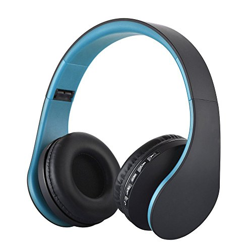 rts Earphones,Wireless Stereo Noise Cancelling Headsets 4 in 1 Bluetooth Foldable Wireless Headphone w/Mic Heavy Bass Sound Headset for Phone Laptop for Gym Running Workout ()