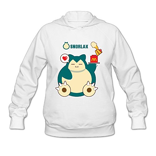 [Wesley Hungry Snorlax Wen's Soft Pullover Hood White S] (Snorlax Costume Dress)