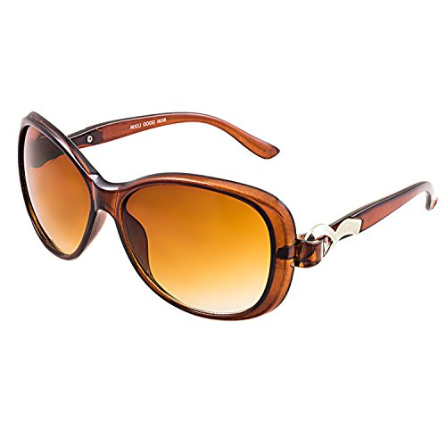 GOOD LOOK UV Protected Oval Women's Sunglasses-(W407 60 Brown Lens)