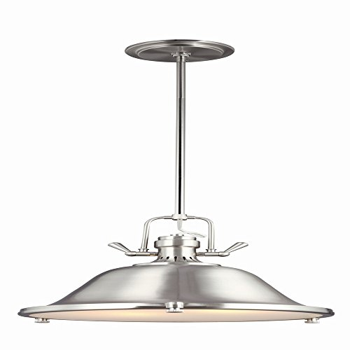 Stone Bowl Pendant (Sea Gull Lighting 6514402-962, Stone Street Bowl Pendant, 2 Light, 30 Total Watts, Nickel)