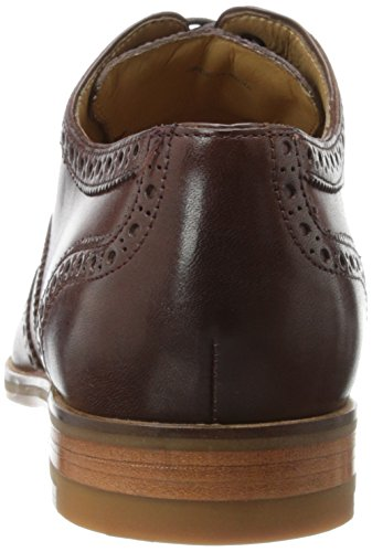 Crew Haan Mens Cambridge Wingtip Oxford Scarpa Marrone Scuro