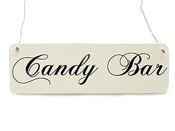 Shabby Vintage Schild Candy Bar Hochzeit Dekoschild Bonbon Amazon