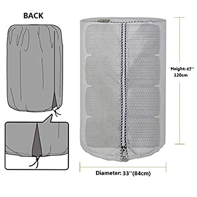 Mr.You Large Tire Cover,Tire Storage Bag & Seasonal Tire Cover,Waterproof Dust-Proof (Diameter 32-inch,Silver Coated): Automotive