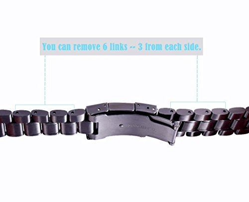 how to shorten watch strap metal links