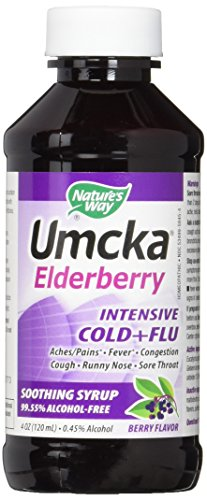 Nature's Way Umcka Elderberry Intensive Cold Plus Flu Syrup, 4 Ounce