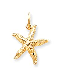 Lex & Lu 10k Yellow Gold STARFISH CHARM