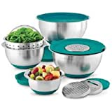 Wolfgang Puck Mixing Bowl Set 12 Pc (Teal)
