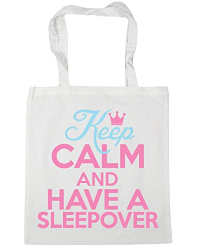Beach White a 42cm calm have sleepover Keep 10 Tote litres Gym Shopping and HippoWarehouse Bag x38cm qBTwRx44