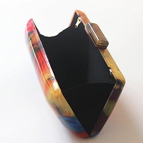Acrylic Shoulder Print Fashion evening Clutch Woman Luxury Women Casual Flower designers bag New Clutch bag qPAwtt