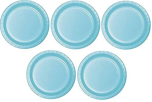 Creative Converdeing 533279 - Piatti di carta da dessert, 96 pezzi, colore  Blu pastello 5-(Pack)