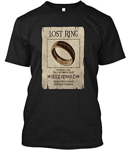 Lost Ring - Lord of The Rings Shirt - Men's Woman Funny Novelty T-Shirt-Sweatshirt-Hoodie Black -