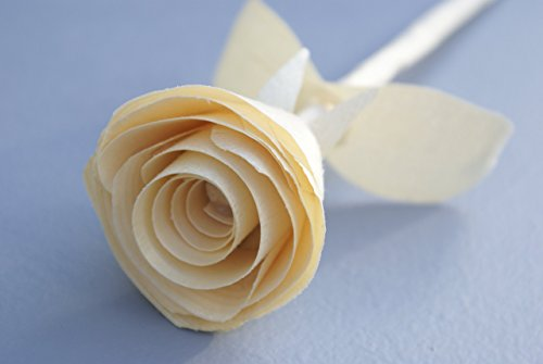Anniversary gift, Wooden Rose for 5 year, Handmade, traditional wood gift, Birthday present, Natural Wood Rose, Gift for her, Get well soon, Wedding favor, floral centerpiece,