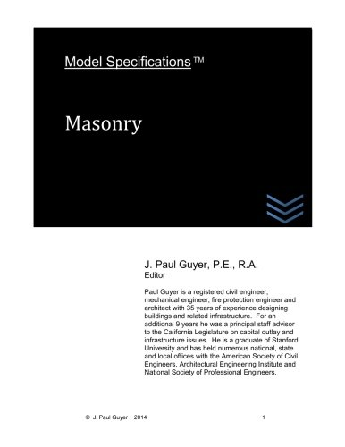 Download Model Specifications: Masonry (Volume 6) ebook
