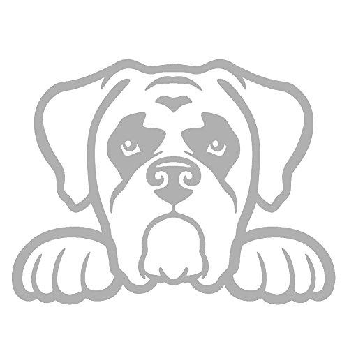 Boxer Dog Peeking V1 Vinyl Decal by StickerDad - size: 5