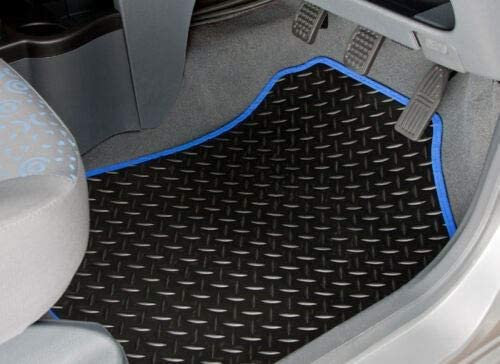 UKB4C Blue Trim Tailored Rubber Mats fits Ford C Max 2003 2004 2005 2006 2007 2008 2009 2010 2011