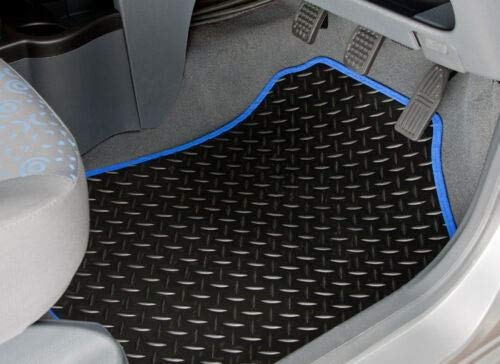 UKB4C Tailored Carpet Car Mats for Volvo V60 With Clips Manual Set of 4 With 8 Clips