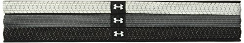 Under Armour Women's Reflective Mini Headbands - 3 Pack, White (100)/Silver, One (3 Pack Mini Headbands)