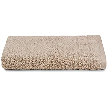 Calvin Klein Home Sculpted Grid Hand Towel, Husk