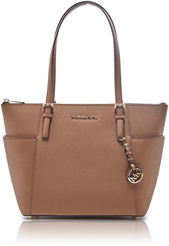 MICHAEL Michael Kors Jet Set Top-Zip Tote (Acorn) by MICHAEL Michael Kors