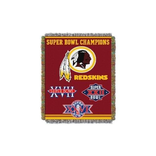 Northwest Northwest Washington Redskins Super Bowl Commerative 48 x 60 Throw Blanket (Size 48 Champion Basketball Jersey)
