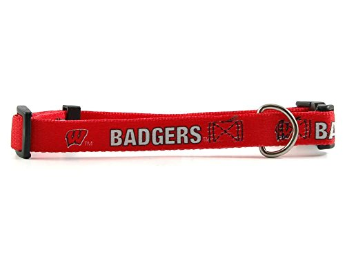 "Wisconsin Badgers Medium Dog Collar (14"" - 20"" L x 3/4"" W)"