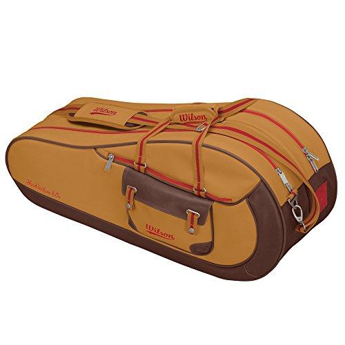 Wilson Schlägertasche Heritage Racquet Bag 9er, Braun, 79 x 34 x 24 cm, 65 Liter, WRZ620509