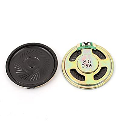 uxcell 2Pcs 40mm Dia 8 Ohm 0.5W Metal Shell Round Internal Mini Magnetic Loudspeaker for Voice Toy from uxcell