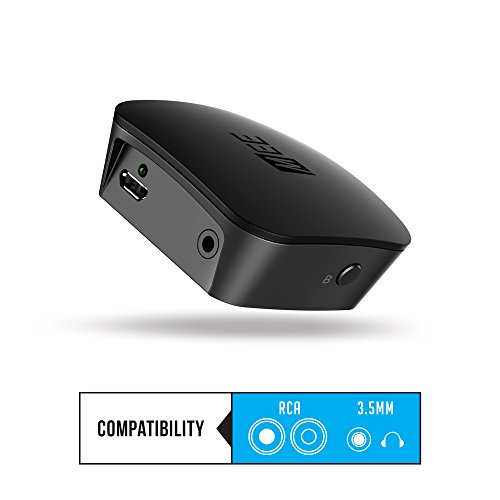 MEE audio DualStream S1 Headphone and Speaker Bluetooth Wireless Audio Transmitter/Streamer with aptX Low Latency technology for TVs and other devices (analog input via headphone jack or RCA)
